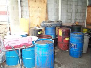 waste storage area