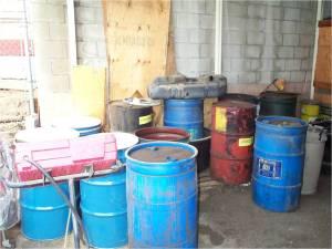 waste storage area